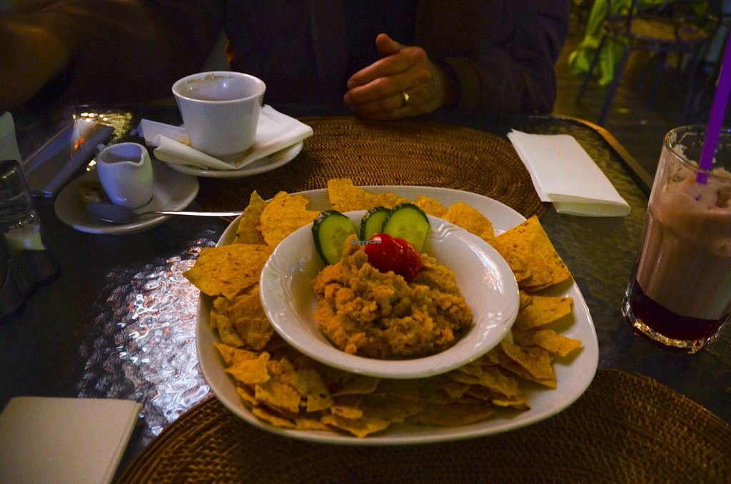 """Photo of Avocado Cafe - Chistoprudny  by <a href=""""/members/profile/Ciad"""">Ciad</a> <br/>Hummus and chips <br/> March 1, 2016  - <a href='/contact/abuse/image/4521/138416'>Report</a>"""