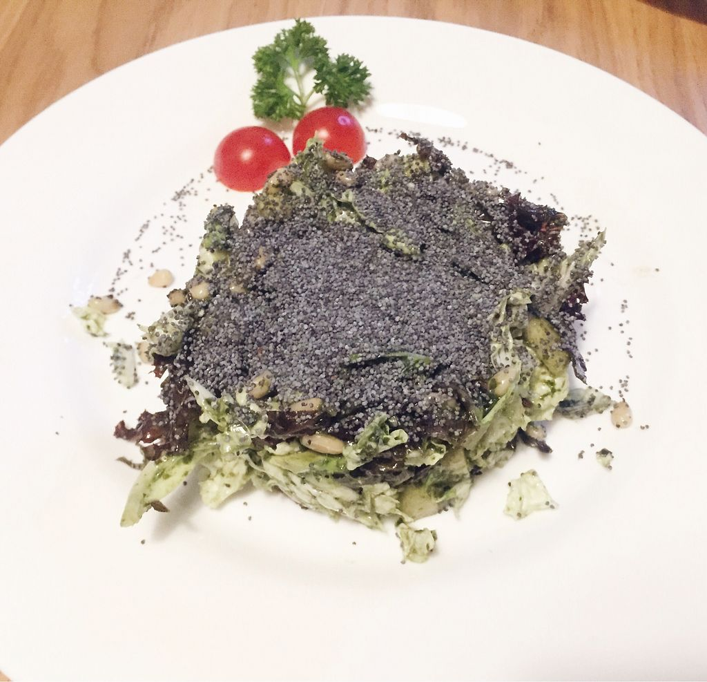"""Photo of Avocado Cafe - Chistoprudny  by <a href=""""/members/profile/Evgenia"""">Evgenia</a> <br/>salad with avo, poppy seeds and pine nuts <br/> September 1, 2017  - <a href='/contact/abuse/image/4521/299785'>Report</a>"""