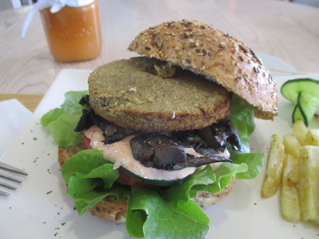 "Photo of Aurelie's Health and Lifestyle Cafe  by <a href=""/members/profile/Wolfmoon"">Wolfmoon</a> <br/>Eastern Soul burger: made from chickpeas falafel <br/> March 5, 2016  - <a href='/contact/abuse/image/45242/138815'>Report</a>"