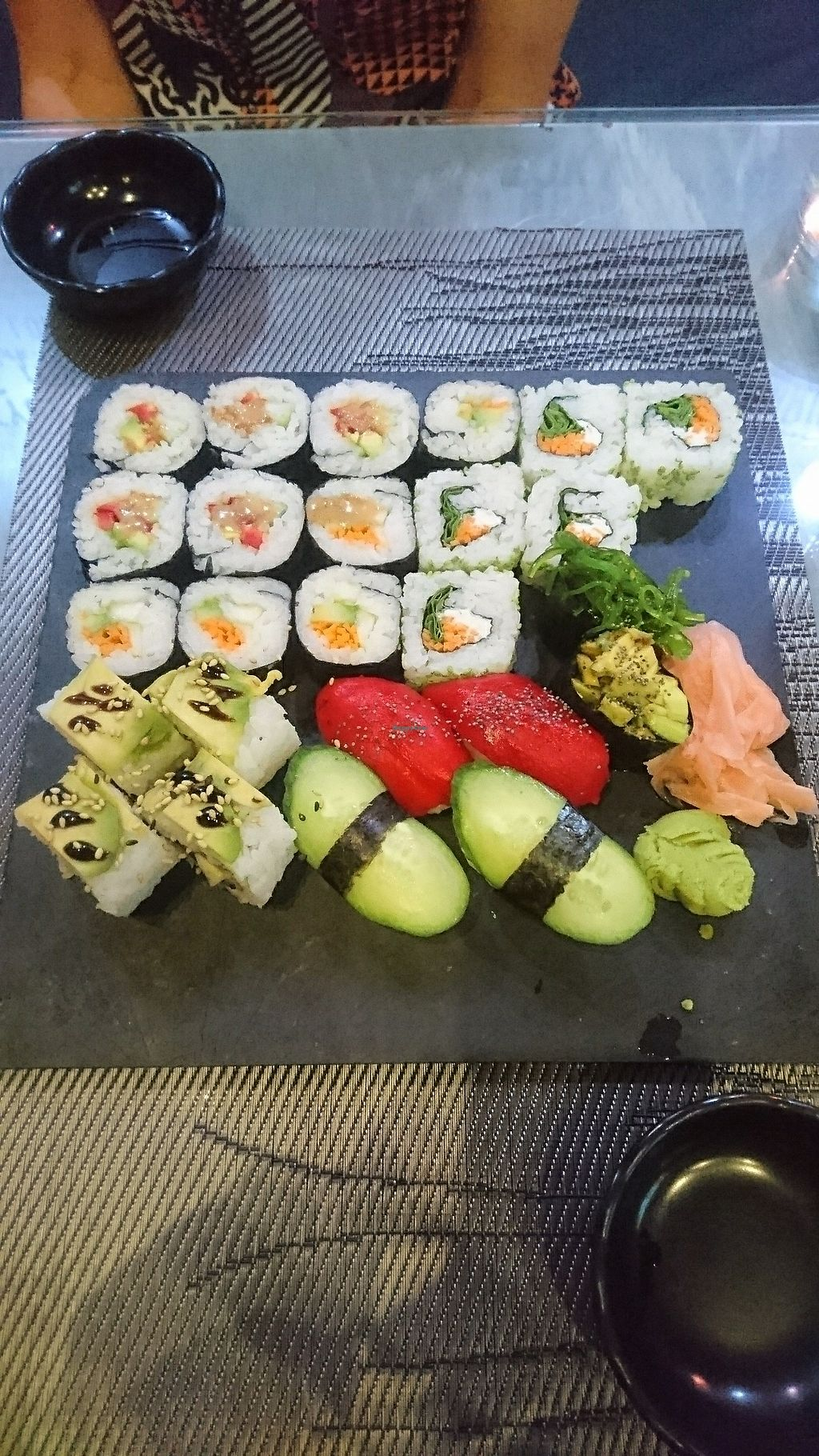 """Photo of Mizushi  by <a href=""""/members/profile/MichaelFry-White"""">MichaelFry-White</a> <br/>Vegan, 25pcs for €18 <br/> August 2, 2017  - <a href='/contact/abuse/image/45248/288047'>Report</a>"""