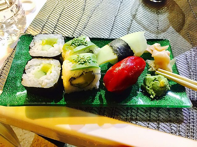 """Photo of Mizushi  by <a href=""""/members/profile/CatMcAlister"""">CatMcAlister</a> <br/>fabulous vegan sushi! <br/> September 21, 2017  - <a href='/contact/abuse/image/45248/306672'>Report</a>"""