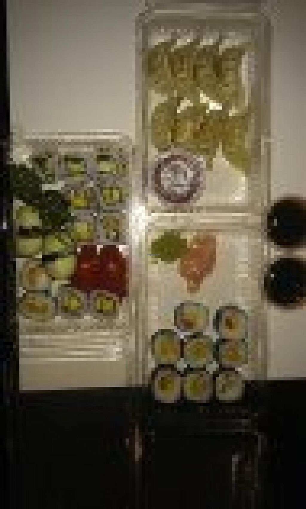 """Photo of Mizushi  by <a href=""""/members/profile/imadenanaimos"""">imadenanaimos</a> <br/>Take out of 25 pieces of vegan sushi and 8 veg gyoza.  Excellent! <br/> October 19, 2014  - <a href='/contact/abuse/image/45248/83368'>Report</a>"""