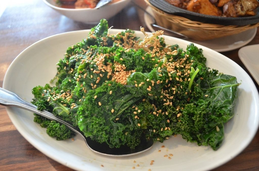 """Photo of Blossom Vegan Restaurant  by <a href=""""/members/profile/alexandra_vegan"""">alexandra_vegan</a> <br/>Ginger Kale (menu item 35) yummy <br/> September 8, 2016  - <a href='/contact/abuse/image/45256/174423'>Report</a>"""