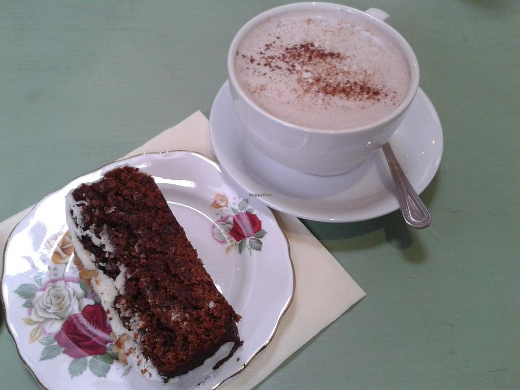 """Photo of The Hub at Healthy Spirit  by <a href=""""/members/profile/jennyc32"""">jennyc32</a> <br/>Vegan sticky date and orange cake <br/> April 27, 2015  - <a href='/contact/abuse/image/45286/100482'>Report</a>"""