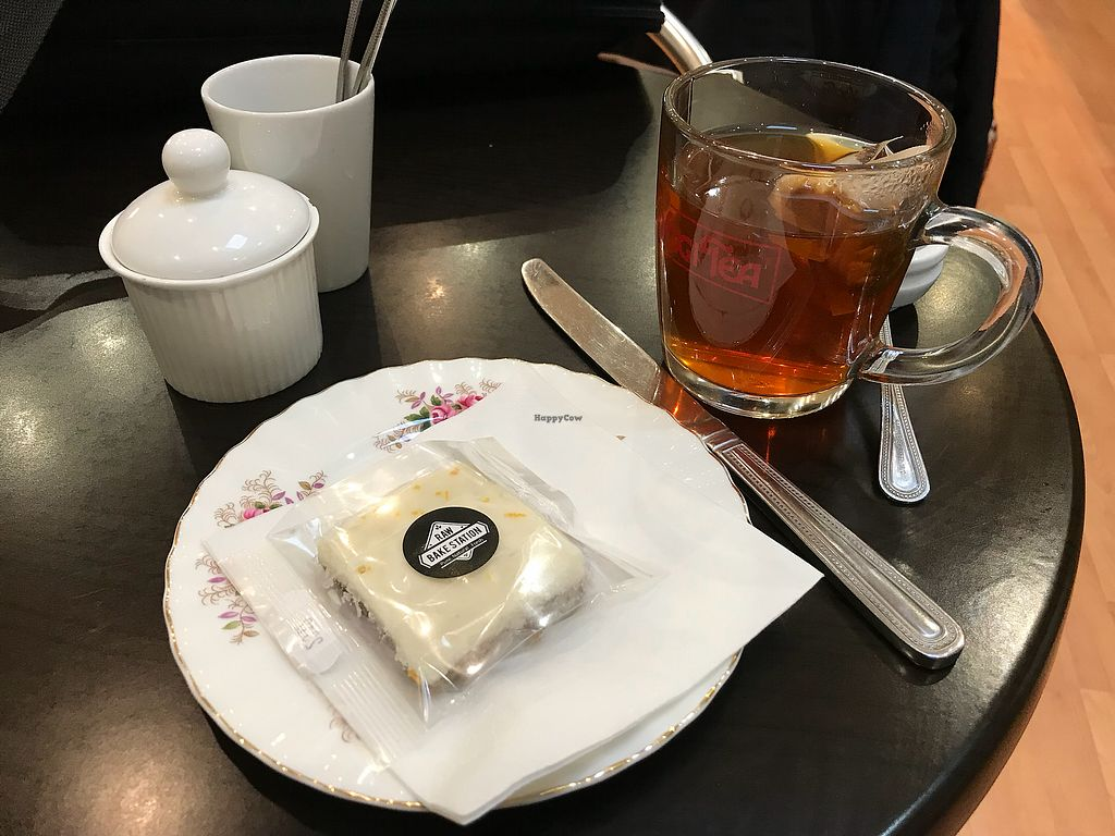 """Photo of The Hub at Healthy Spirit  by <a href=""""/members/profile/VickiWanSlattery"""">VickiWanSlattery</a> <br/>Ayurvedic tea and raw vegan bake orange cream slice  <br/> December 5, 2017  - <a href='/contact/abuse/image/45286/332540'>Report</a>"""