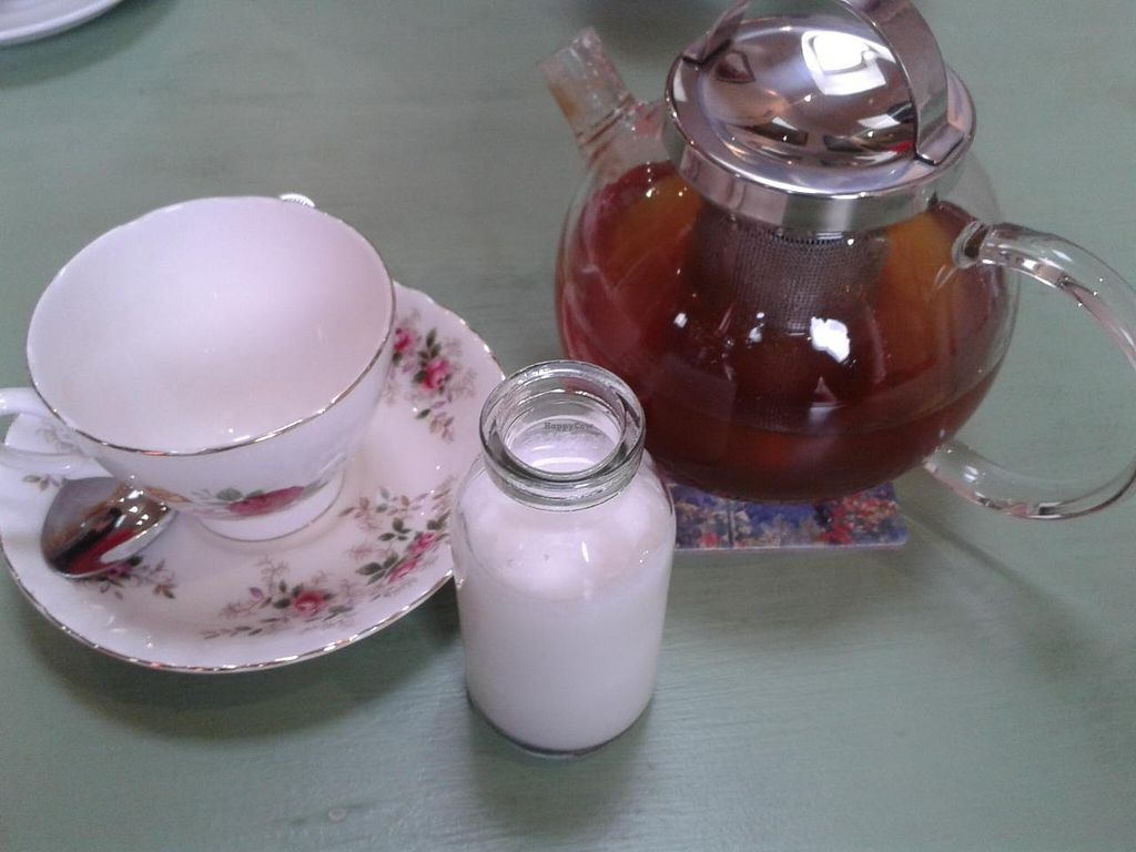 """Photo of The Hub at Healthy Spirit  by <a href=""""/members/profile/jennyc32"""">jennyc32</a> <br/>Chai latte with coconut milk <br/> April 19, 2015  - <a href='/contact/abuse/image/45286/99623'>Report</a>"""