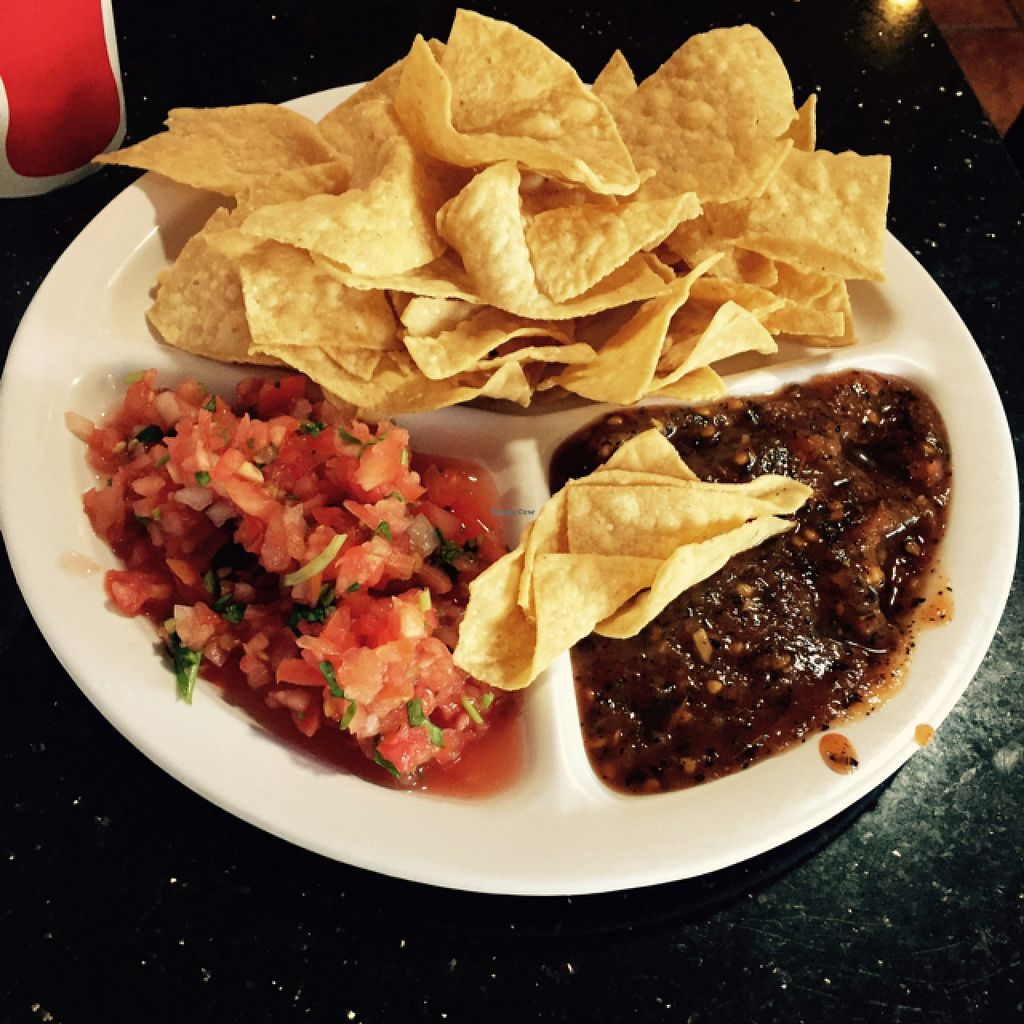 "Photo of Adelitas Taqueria  by <a href=""/members/profile/Theveganwife"">Theveganwife</a> <br/>chips and salsa  <br/> August 4, 2015  - <a href='/contact/abuse/image/45311/112289'>Report</a>"