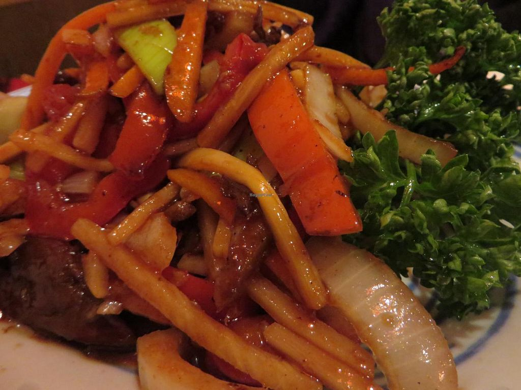 "Photo of Hongkong Imbiss  by <a href=""/members/profile/VegiAnna"">VegiAnna</a> <br/>V4 Su-Ya Szechuan (mock duck with bamboo, carrots and peppers, spicy) <br/> March 2, 2014  - <a href='/contact/abuse/image/45325/65153'>Report</a>"