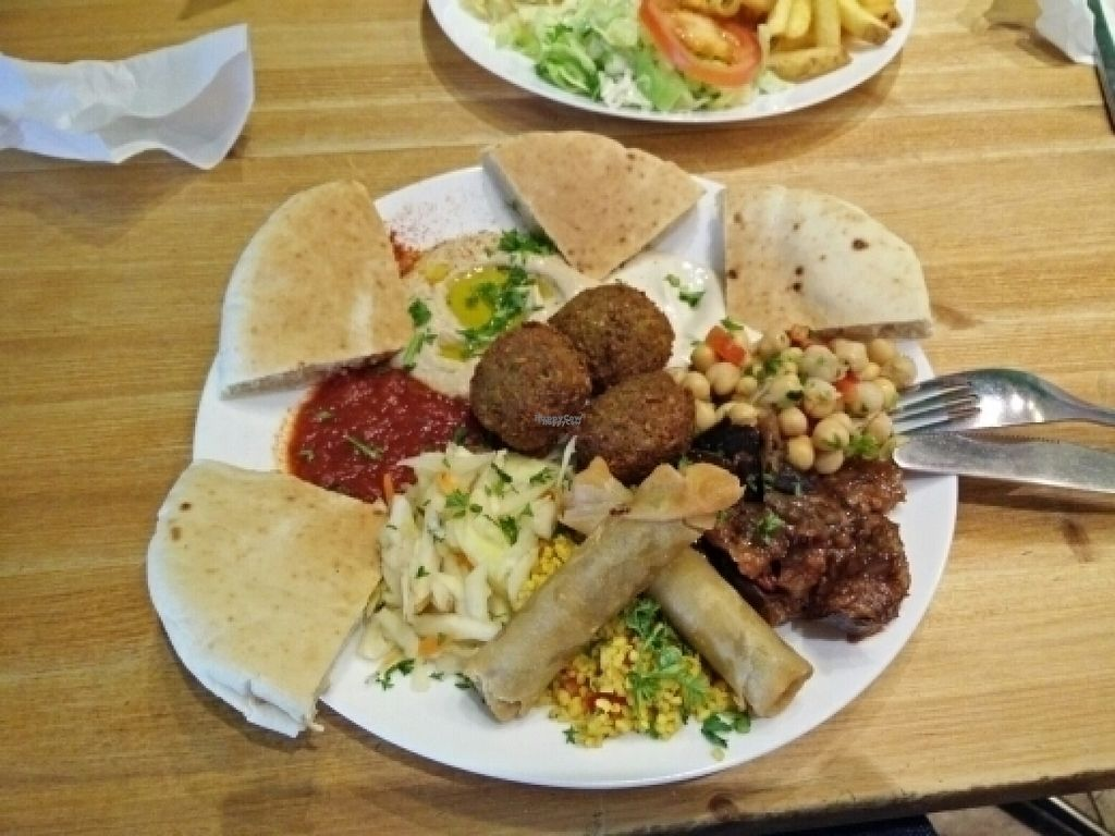 """Photo of Just Vege  by <a href=""""/members/profile/OTL"""">OTL</a> <br/>Meze plate (without tzatziki for vegan) <br/> August 14, 2016  - <a href='/contact/abuse/image/45338/168495'>Report</a>"""