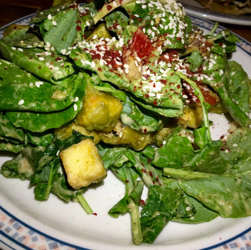 """Photo of Sneaky Pickle  by <a href=""""/members/profile/Pips"""">Pips</a> <br/>Vegan Fried Tofu Salad  <br/> August 10, 2016  - <a href='/contact/abuse/image/45345/167497'>Report</a>"""