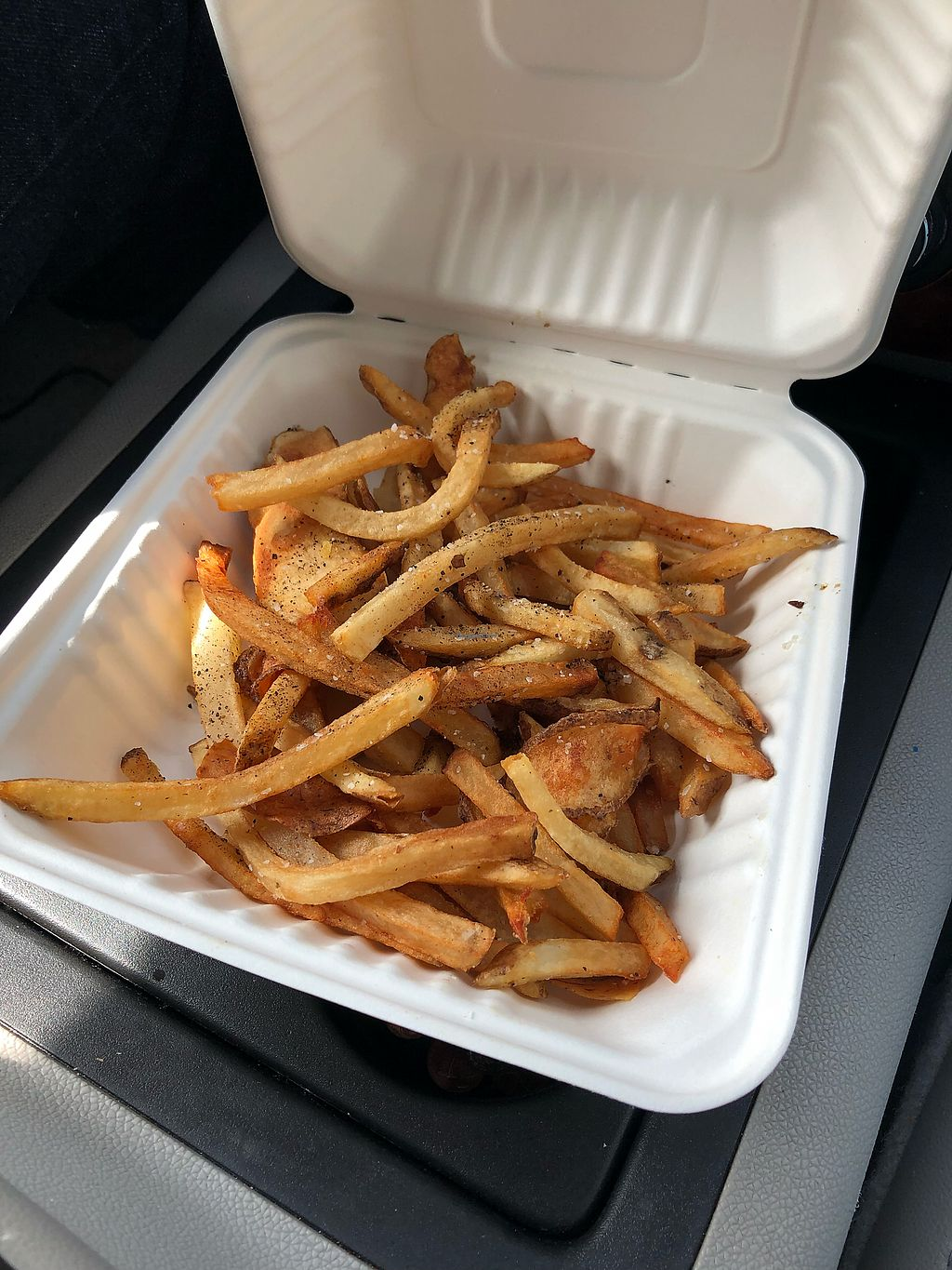 """Photo of Sneaky Pickle  by <a href=""""/members/profile/ShanayshaEvans"""">ShanayshaEvans</a> <br/>Hand cut fries <br/> February 21, 2018  - <a href='/contact/abuse/image/45345/361943'>Report</a>"""
