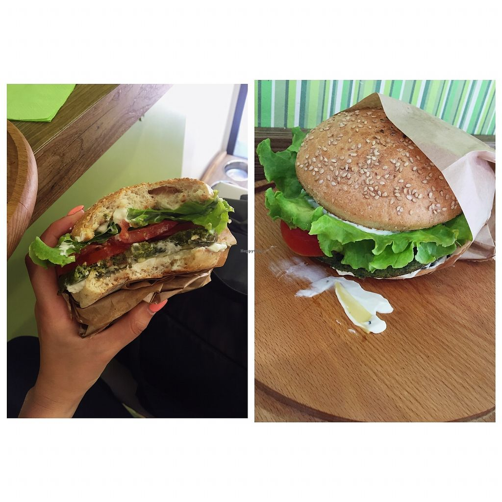 "Photo of Universo Vegano  by <a href=""/members/profile/MaijaMeldere"">MaijaMeldere</a> <br/>I paid 6.20€ for this tofu spinach burger, it was good and tasty :) <br/> July 13, 2017  - <a href='/contact/abuse/image/45373/279882'>Report</a>"