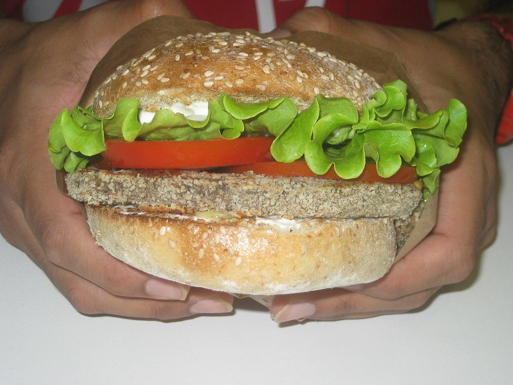 "Photo of Universo Vegano  by <a href=""/members/profile/jennyc32"">jennyc32</a> <br/>Mushroom Burger <br/> July 26, 2017  - <a href='/contact/abuse/image/45373/285024'>Report</a>"