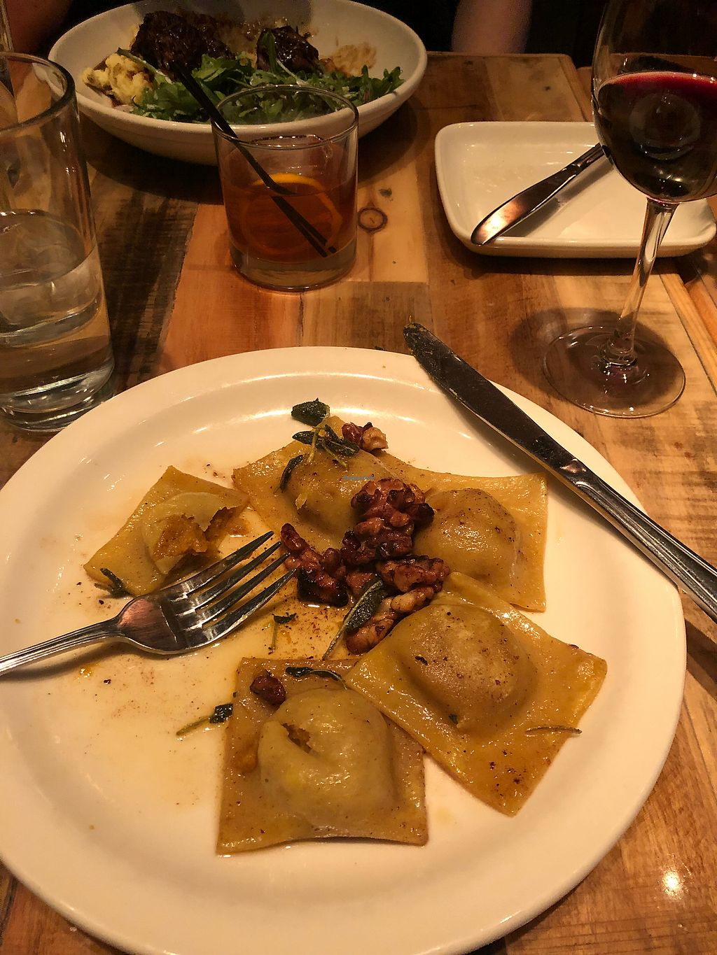 """Photo of French Meadow Bakery and Cafe - Lyndale Ave  by <a href=""""/members/profile/SaraSmith"""">SaraSmith</a> <br/>Butternut squash ravioli <br/> March 14, 2018  - <a href='/contact/abuse/image/4537/370574'>Report</a>"""