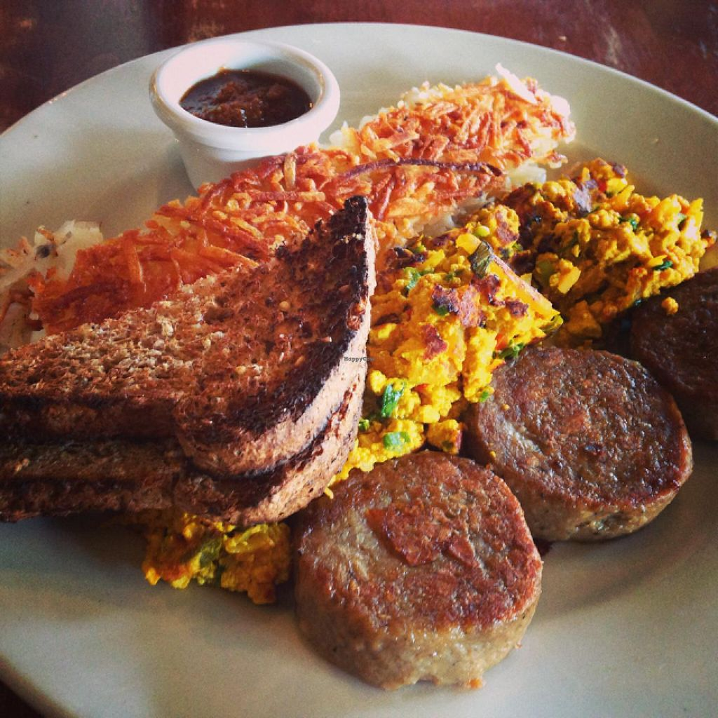 """Photo of French Meadow Bakery and Cafe - Lyndale Ave  by <a href=""""/members/profile/fitmetalvegan2013"""">fitmetalvegan2013</a> <br/>Vegan Breakfast Plate  <br/> March 3, 2014  - <a href='/contact/abuse/image/4537/65189'>Report</a>"""