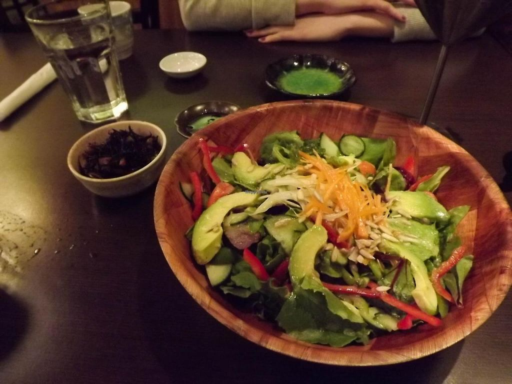 """Photo of Shizenya  by <a href=""""/members/profile/FreeBird"""">FreeBird</a> <br/>Organic Spring Mix Salad with miso dressing <br/> March 8, 2014  - <a href='/contact/abuse/image/45389/65509'>Report</a>"""
