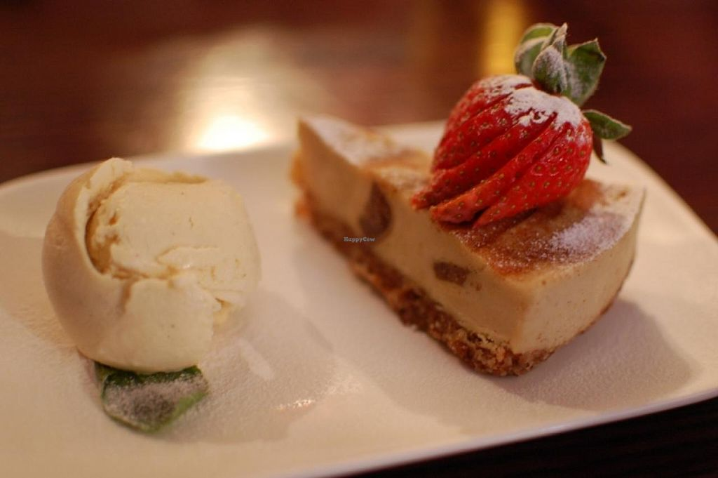 """Photo of The Belgian Monk  by <a href=""""/members/profile/cakeandcounselling"""">cakeandcounselling</a> <br/>Fig, Orange and Cardamom Cheesecake served with Swedish Glace Vanilla <br/> February 21, 2014  - <a href='/contact/abuse/image/45400/64647'>Report</a>"""