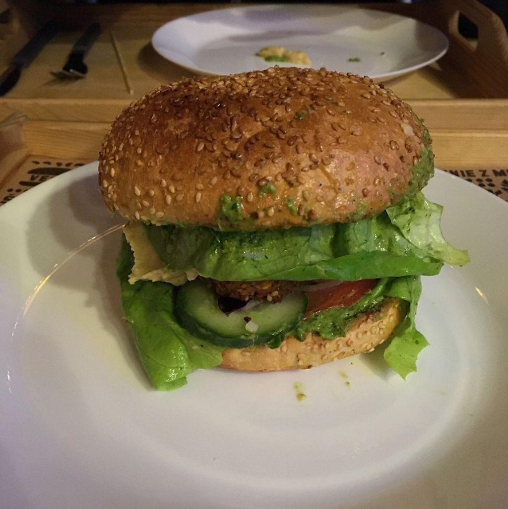 "Photo of Nova Krova  by <a href=""/members/profile/RichieL"">RichieL</a> <br/>Falafel burger (with vegan mayo) <br/> February 15, 2017  - <a href='/contact/abuse/image/45419/226880'>Report</a>"