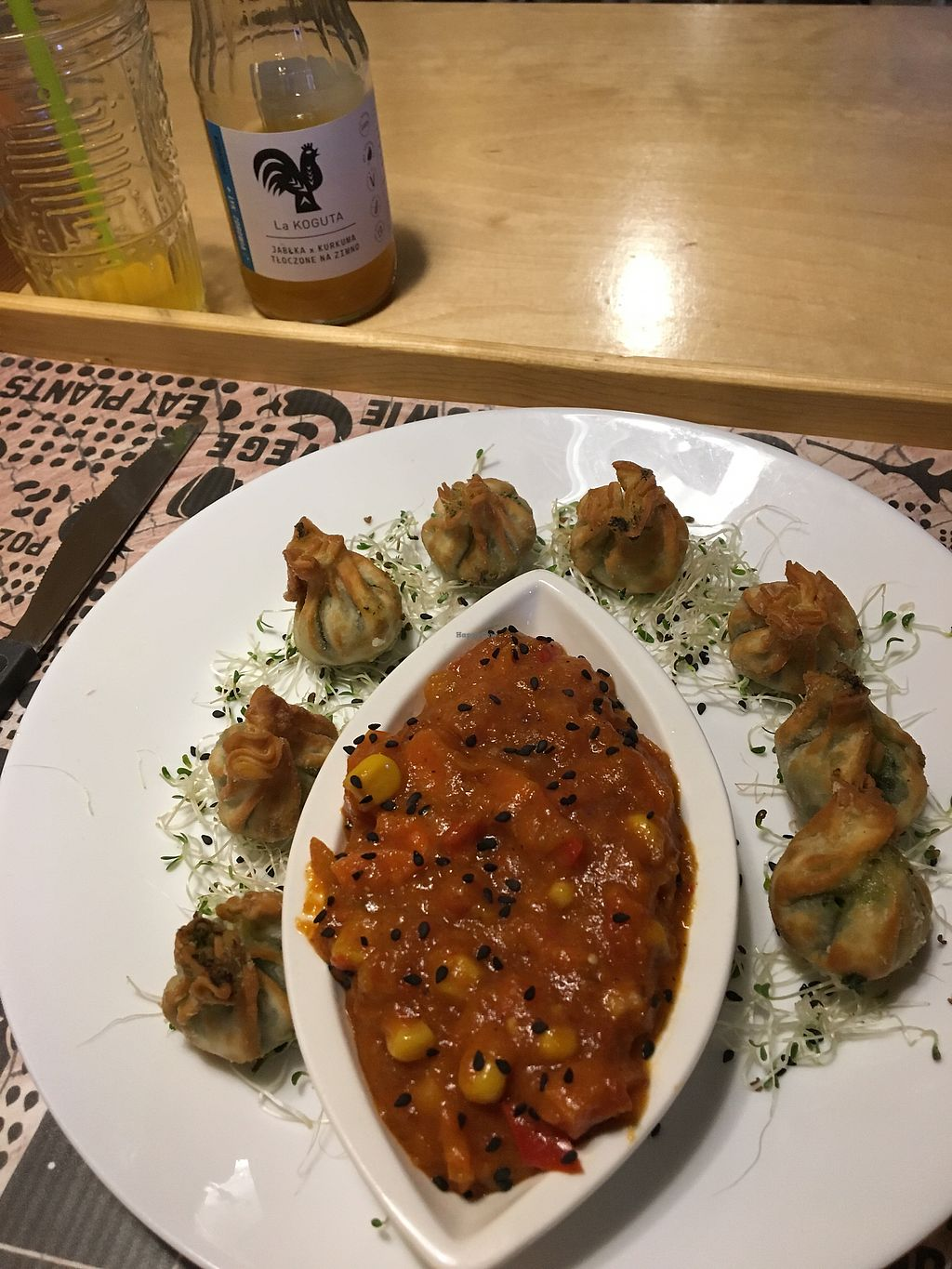 """Photo of Nova Krova  by <a href=""""/members/profile/stridaay"""">stridaay</a> <br/>Spinach Dumplings with Sweet & Sour  <br/> February 7, 2018  - <a href='/contact/abuse/image/45419/356084'>Report</a>"""