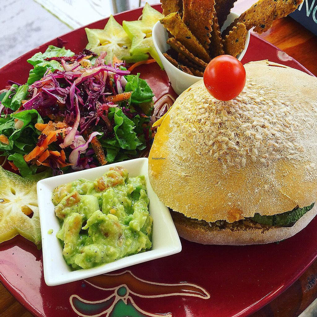 "Photo of Como en mi Casa Art Cafe  by <a href=""/members/profile/gotashima"">gotashima</a> <br/>Grilled veg and hummus sandwich in a combo <br/> December 24, 2017  - <a href='/contact/abuse/image/45446/338528'>Report</a>"