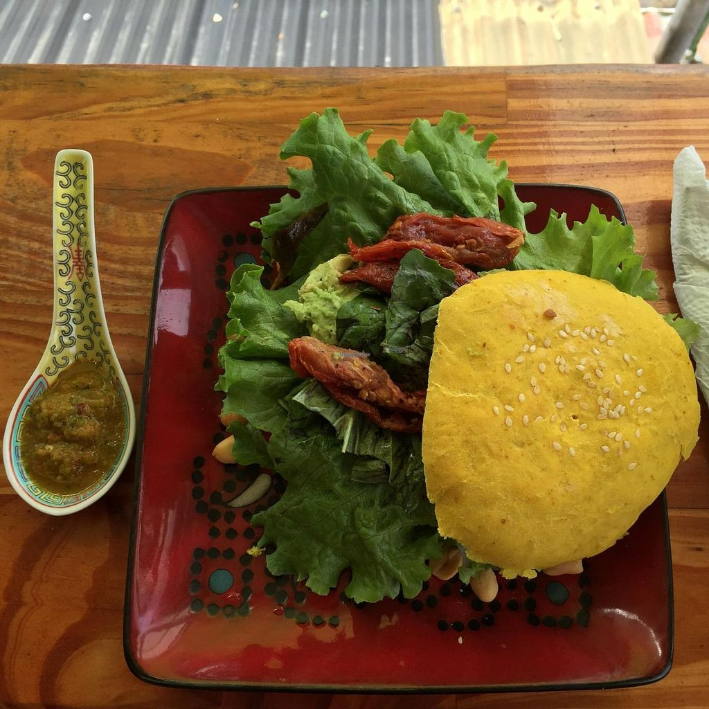 "Photo of Como en mi Casa Art Cafe  by <a href=""/members/profile/Macbethedge"">Macbethedge</a> <br/>Panelle sandwich without cheese. Perfect <br/> February 11, 2015  - <a href='/contact/abuse/image/45446/92850'>Report</a>"