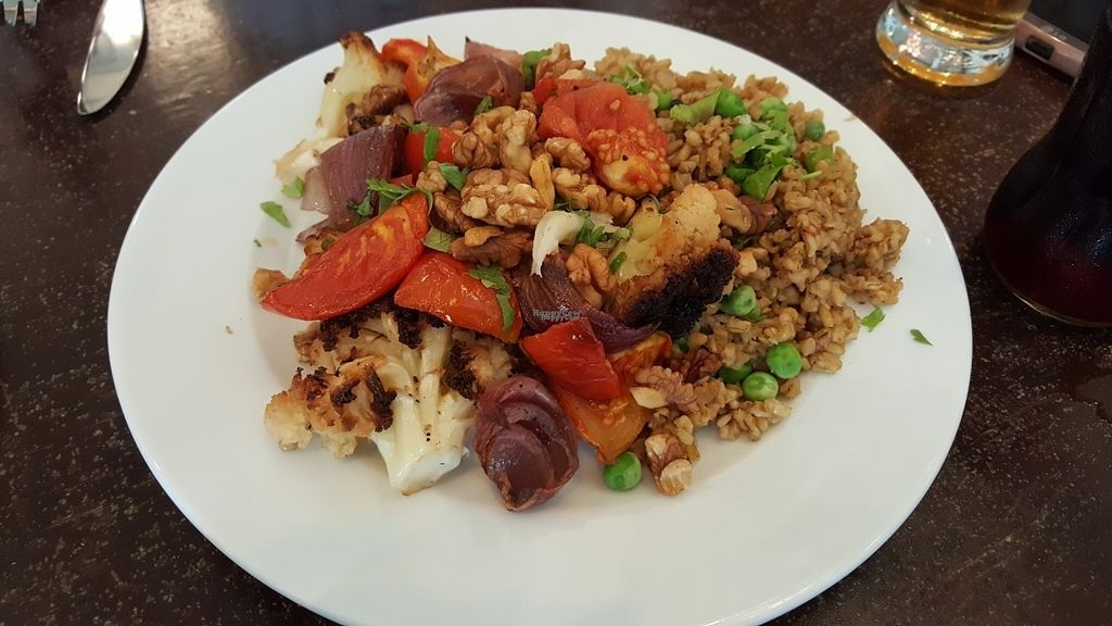 """Photo of Hashachen Bistro  by <a href=""""/members/profile/Atar%20Herbivora"""">Atar Herbivora</a> <br/>Freekeh with roasted veg <br/> October 7, 2016  - <a href='/contact/abuse/image/45467/180379'>Report</a>"""