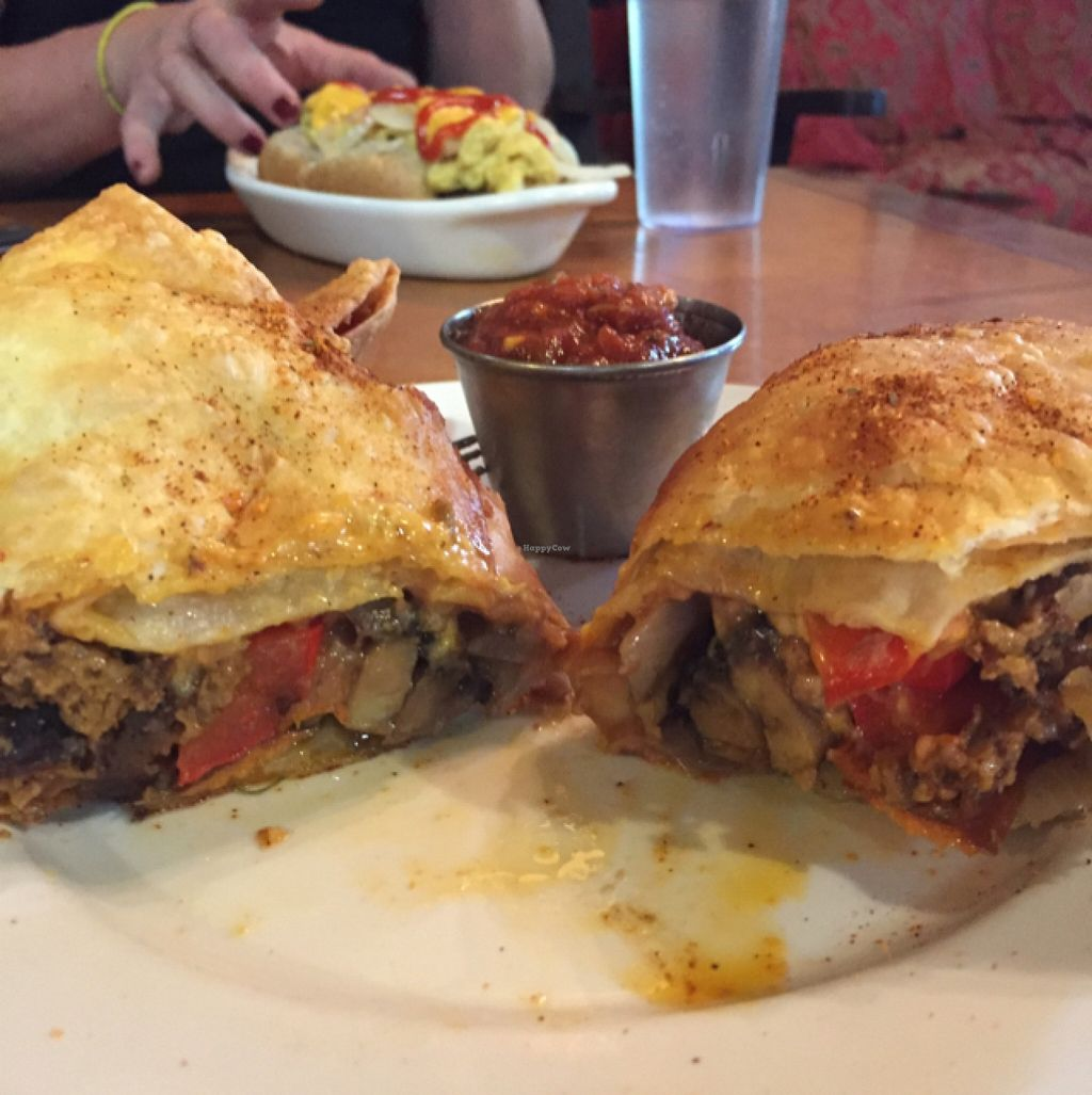 "Photo of Veggie Bob's Kitchen  by <a href=""/members/profile/JessicaKlose"">JessicaKlose</a> <br/>Giant chimichanga! the best I've ever had <br/> May 12, 2016  - <a href='/contact/abuse/image/45509/148719'>Report</a>"