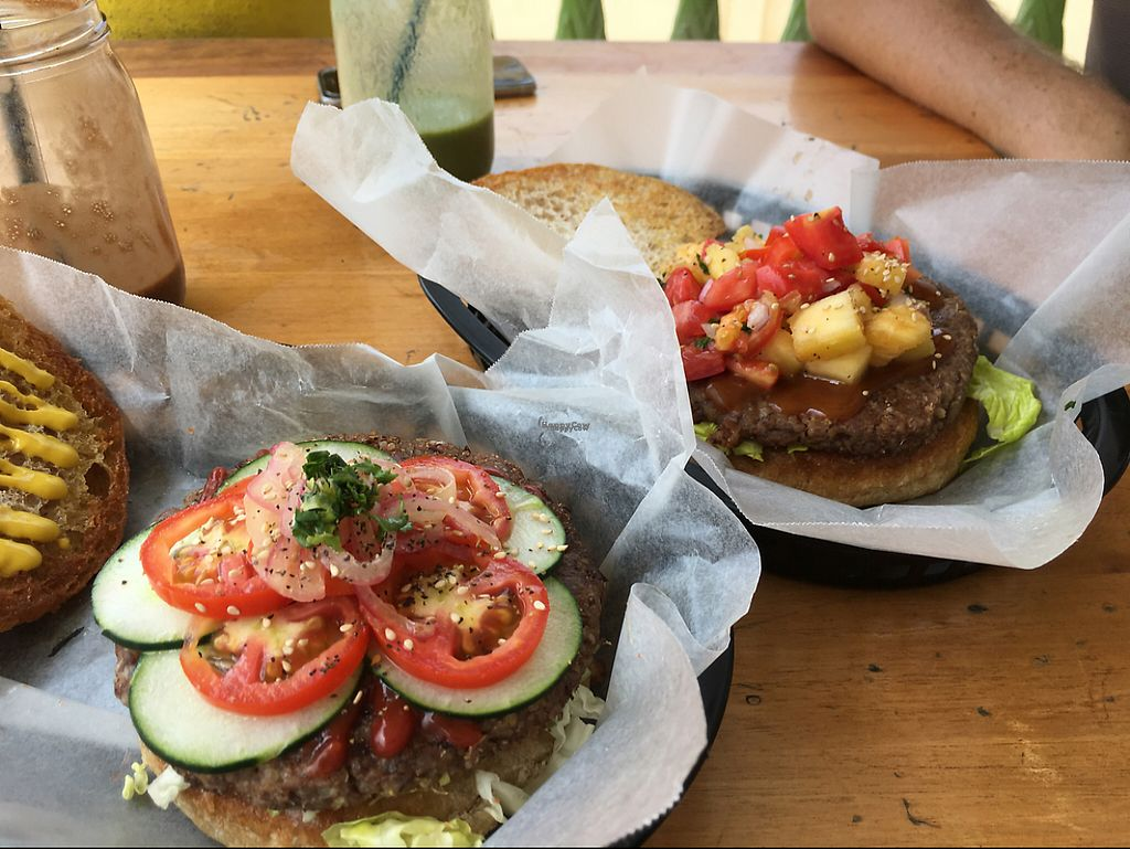 """Photo of CLOSED: Roots Wraps and Smoothies  by <a href=""""/members/profile/AnnFromIllinois"""">AnnFromIllinois</a> <br/>burgers! <br/> April 29, 2017  - <a href='/contact/abuse/image/45522/253801'>Report</a>"""