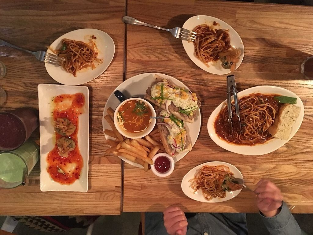 """Photo of Herban Kitchen and Bar  by <a href=""""/members/profile/caitjoy"""">caitjoy</a> <br/>spaghetti bolognese, tuna sandwich <br/> January 5, 2018  - <a href='/contact/abuse/image/45569/343207'>Report</a>"""