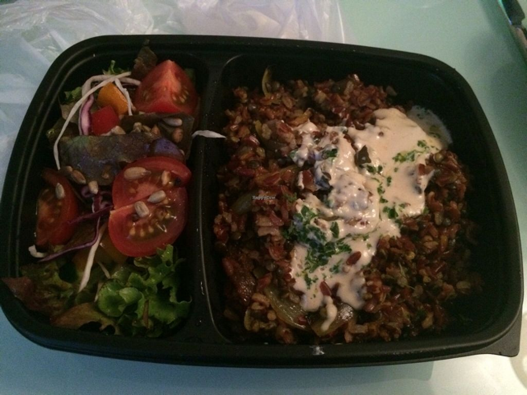 "Photo of Shiloh Vegetarian Cafe  by <a href=""/members/profile/mickeysmousepad"">mickeysmousepad</a> <br/>red rice with lentils and tahini sauce, side salad <br/> May 9, 2016  - <a href='/contact/abuse/image/45589/148203'>Report</a>"