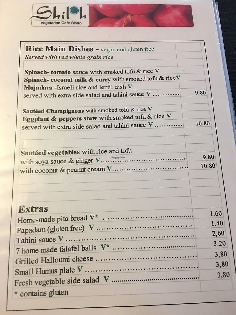 "Photo of Shiloh Vegetarian Cafe  by <a href=""/members/profile/SP"">SP</a> <br/>menu <br/> June 30, 2017  - <a href='/contact/abuse/image/45589/275027'>Report</a>"