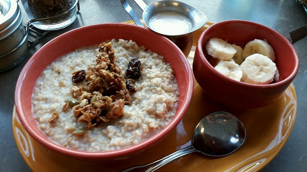 """Photo of Snow City Cafe  by <a href=""""/members/profile/mtravel"""">mtravel</a> <br/>Oatmeal with Almondmilk & Banana <br/> August 27, 2017  - <a href='/contact/abuse/image/45595/297899'>Report</a>"""