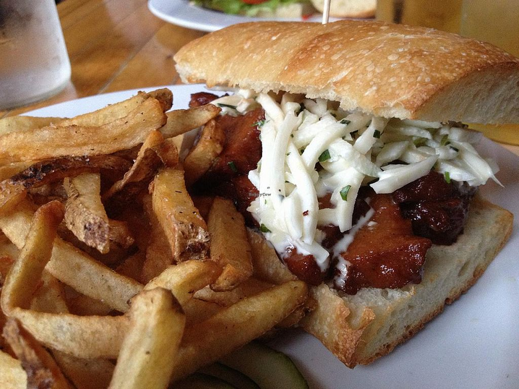 Photo of Honeypie Cafe  by RamblingVegans <br/>Vegan Porkslaw Sandwich  <br/> March 4, 2014  - <a href='/contact/abuse/image/45658/65299'>Report</a>