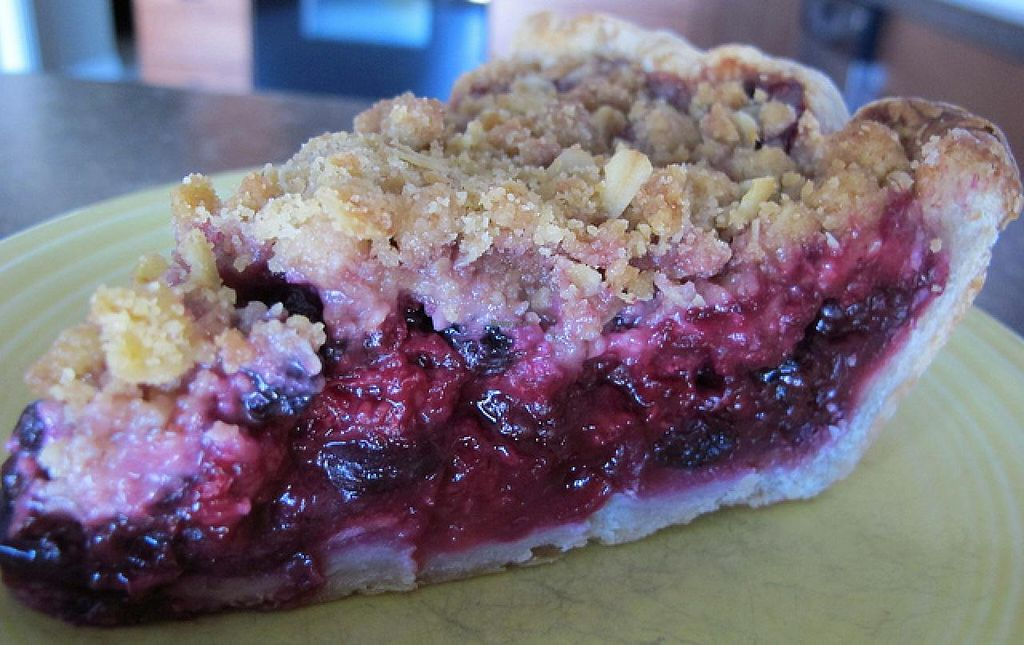Photo of Honeypie Cafe  by RamblingVegans <br/>Vegan apple berry pie <br/> March 4, 2014  - <a href='/contact/abuse/image/45658/65302'>Report</a>