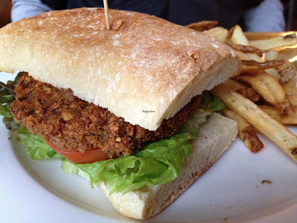 Photo of Honeypie Cafe  by RamblingVegans <br/>Vegan Burger <br/> March 4, 2014  - <a href='/contact/abuse/image/45658/65303'>Report</a>