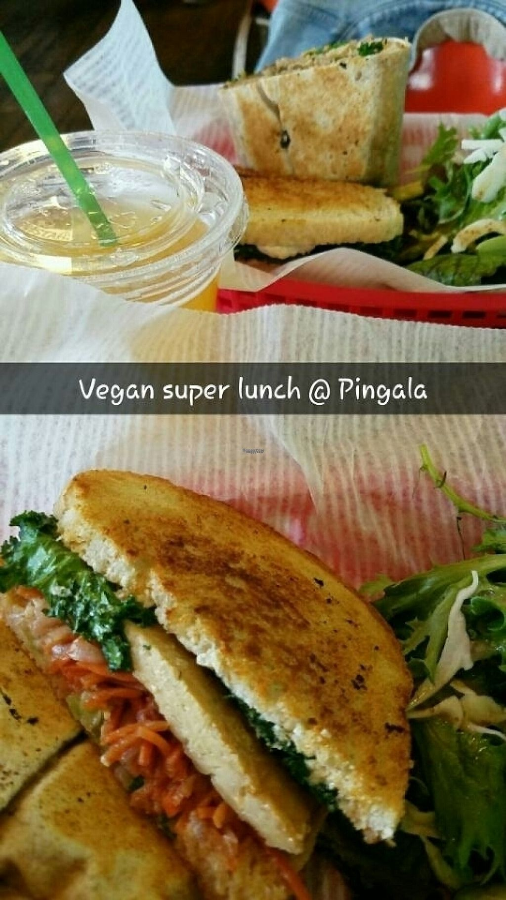 """Photo of Pingala Cafe  by <a href=""""/members/profile/andreathinks"""">andreathinks</a> <br/>had to snap chat our delicious lunch <br/> November 12, 2016  - <a href='/contact/abuse/image/45669/189068'>Report</a>"""