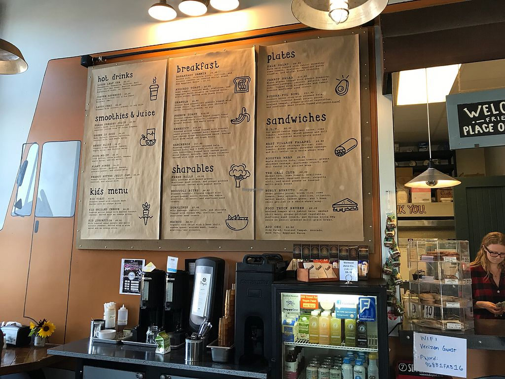 """Photo of Pingala Cafe  by <a href=""""/members/profile/SimonBodzioch"""">SimonBodzioch</a> <br/>Menu at Pingala's <br/> September 12, 2017  - <a href='/contact/abuse/image/45669/303470'>Report</a>"""