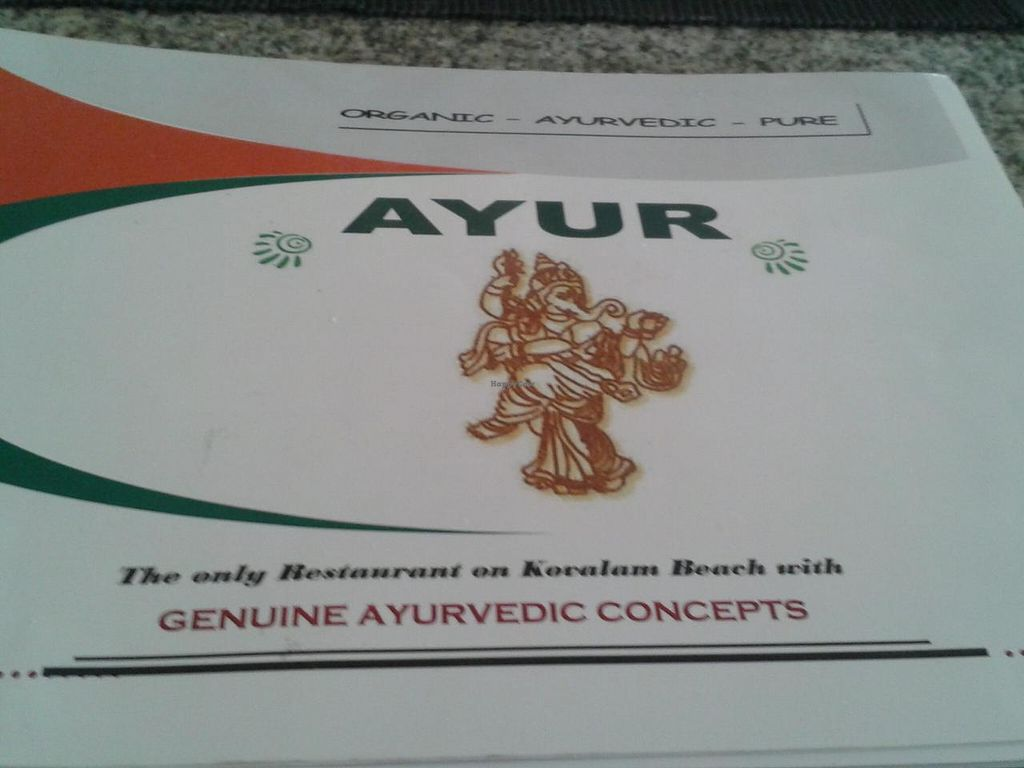 "Photo of Ayur Restaurant  by <a href=""/members/profile/aleta"">aleta</a> <br/>Menu <br/> March 4, 2014  - <a href='/contact/abuse/image/45706/65292'>Report</a>"
