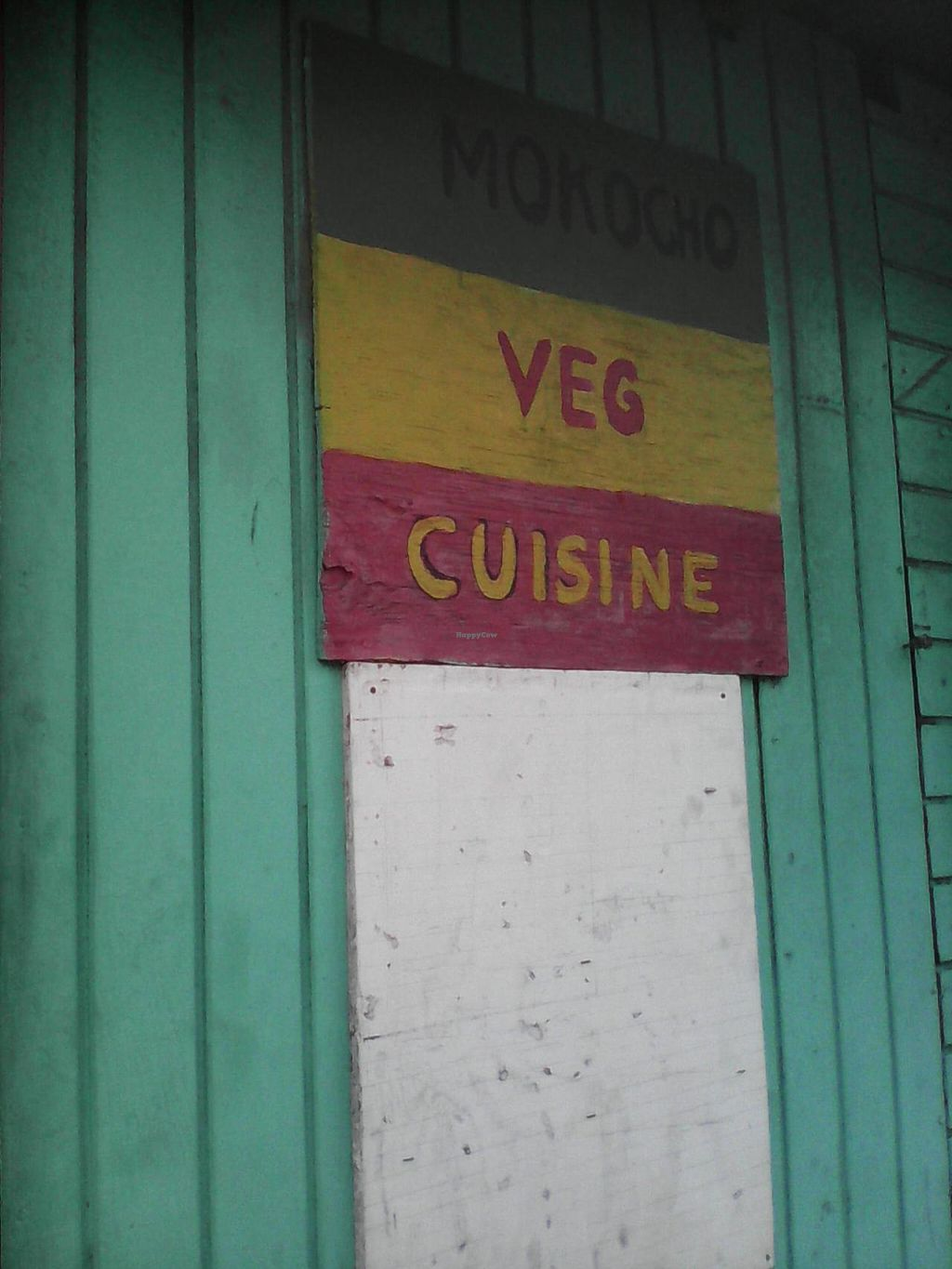 "Photo of Mokocho Cuisine  by <a href=""/members/profile/Laura%20Grainger"">Laura Grainger</a> <br/>Mokocho Veg Cuisine sign <br/> March 10, 2014  - <a href='/contact/abuse/image/45707/65626'>Report</a>"