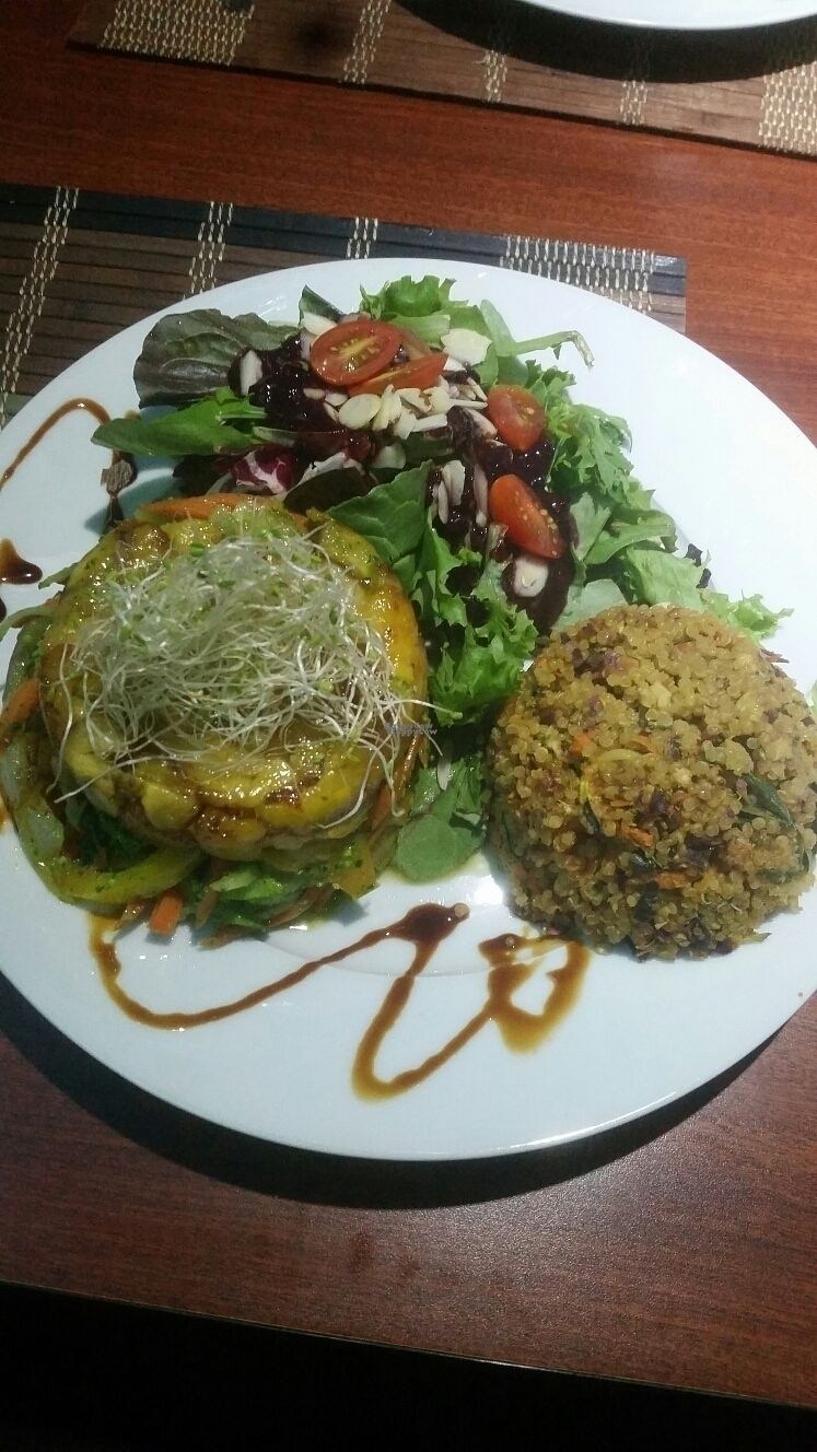 """Photo of Ocean Park Cafe  by <a href=""""/members/profile/Meganrose"""">Meganrose</a> <br/>Veggie lasagna side of quinoa  <br/> September 10, 2016  - <a href='/contact/abuse/image/45729/174754'>Report</a>"""