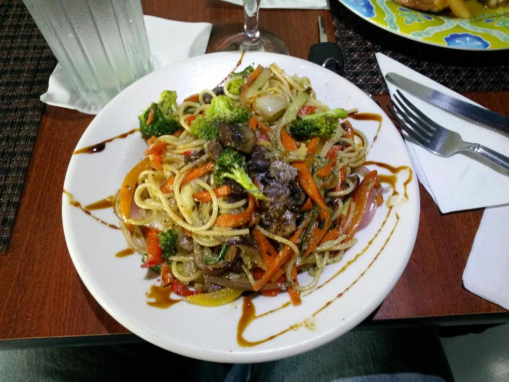 """Photo of Ocean Park Cafe  by <a href=""""/members/profile/DaKingSon"""">DaKingSon</a> <br/>A chefs challenge. Spaghetti and garlic. The rest is his invention. Vegan Good! <br/> September 7, 2014  - <a href='/contact/abuse/image/45729/79342'>Report</a>"""