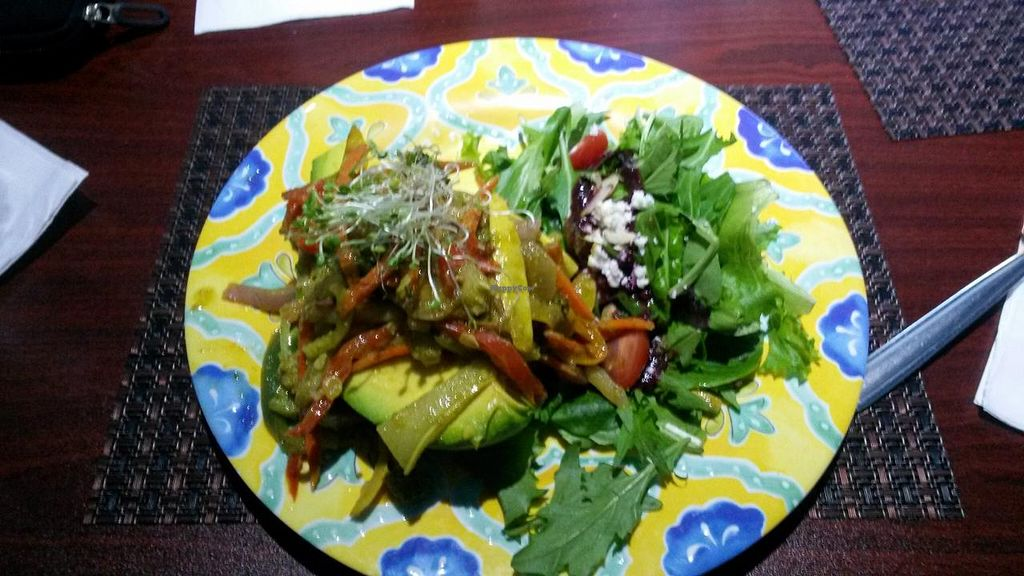 """Photo of Ocean Park Cafe  by <a href=""""/members/profile/DaKingSon"""">DaKingSon</a> <br/>Avocado w/Veggies in Mediterranean Sauce <br/> December 21, 2014  - <a href='/contact/abuse/image/45729/88414'>Report</a>"""