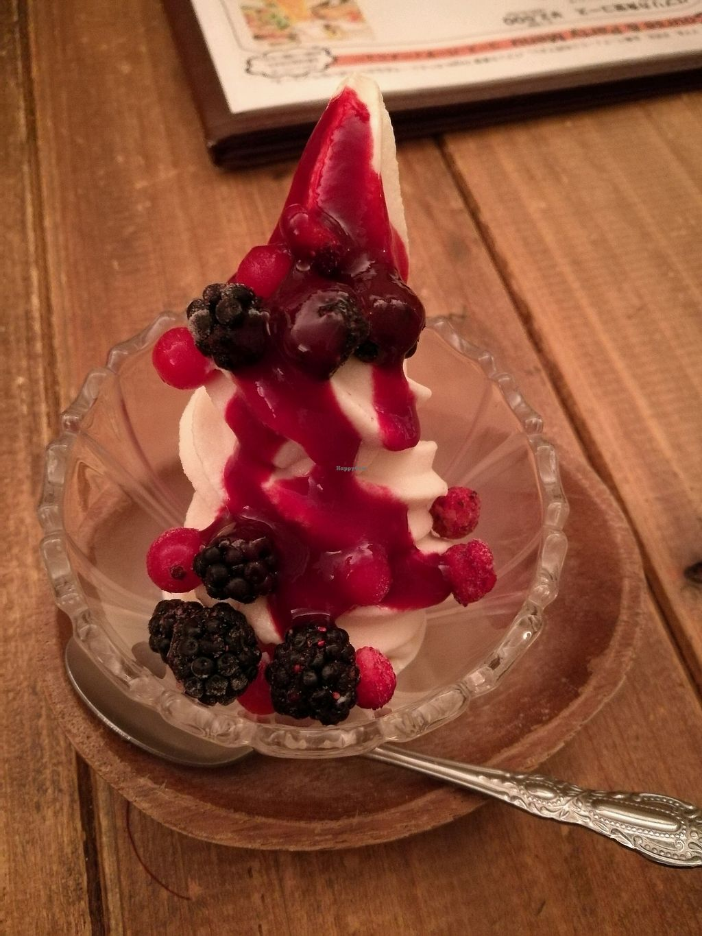 """Photo of Paprika Shokudo Vegan  by <a href=""""/members/profile/Felicious"""">Felicious</a> <br/>berry soy soft serve <br/> April 10, 2018  - <a href='/contact/abuse/image/45738/383274'>Report</a>"""
