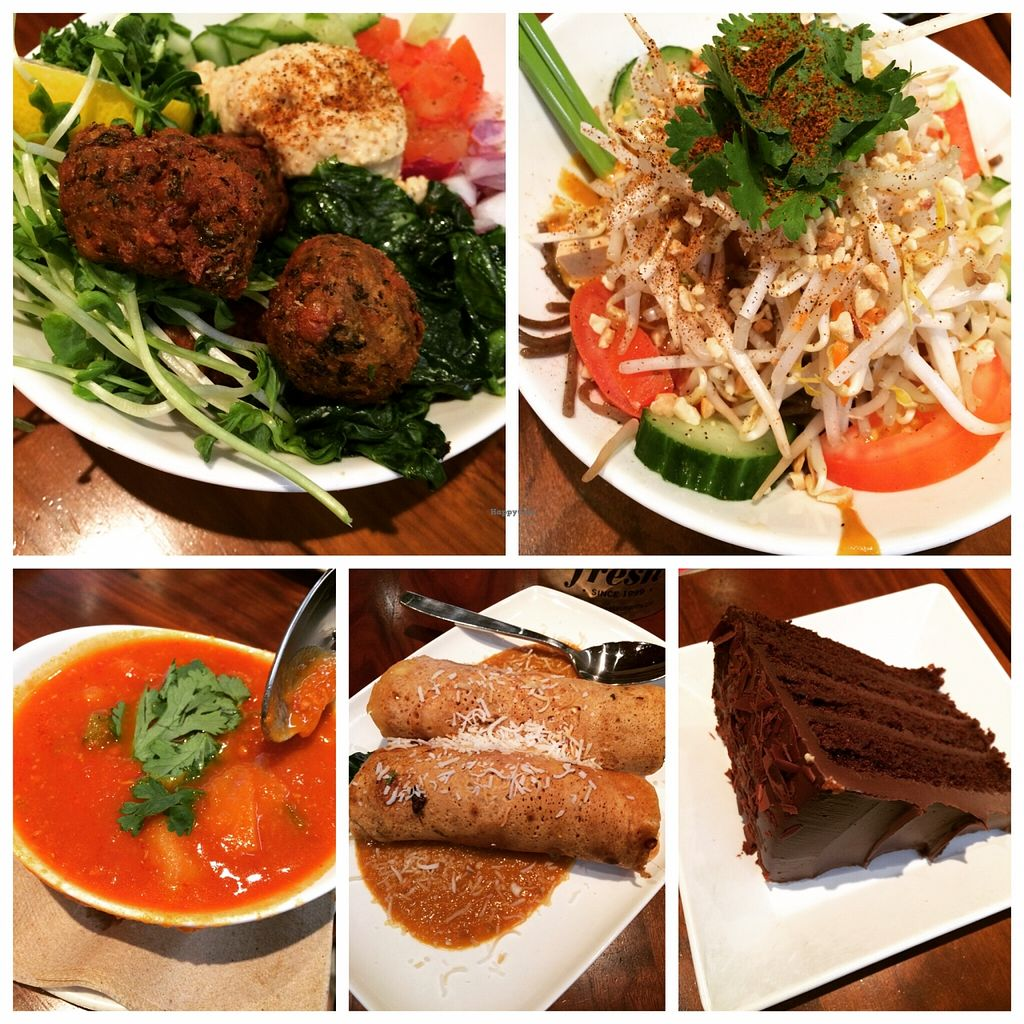 """Photo of Fresh on Eglinton  by <a href=""""/members/profile/JazzyCow"""">JazzyCow</a> <br/>My second visit to Fresh -- loved the soup and the falafel in the Jerusalem bowl. OH, and of course, the cake ;) <br/> April 2, 2016  - <a href='/contact/abuse/image/45740/142466'>Report</a>"""