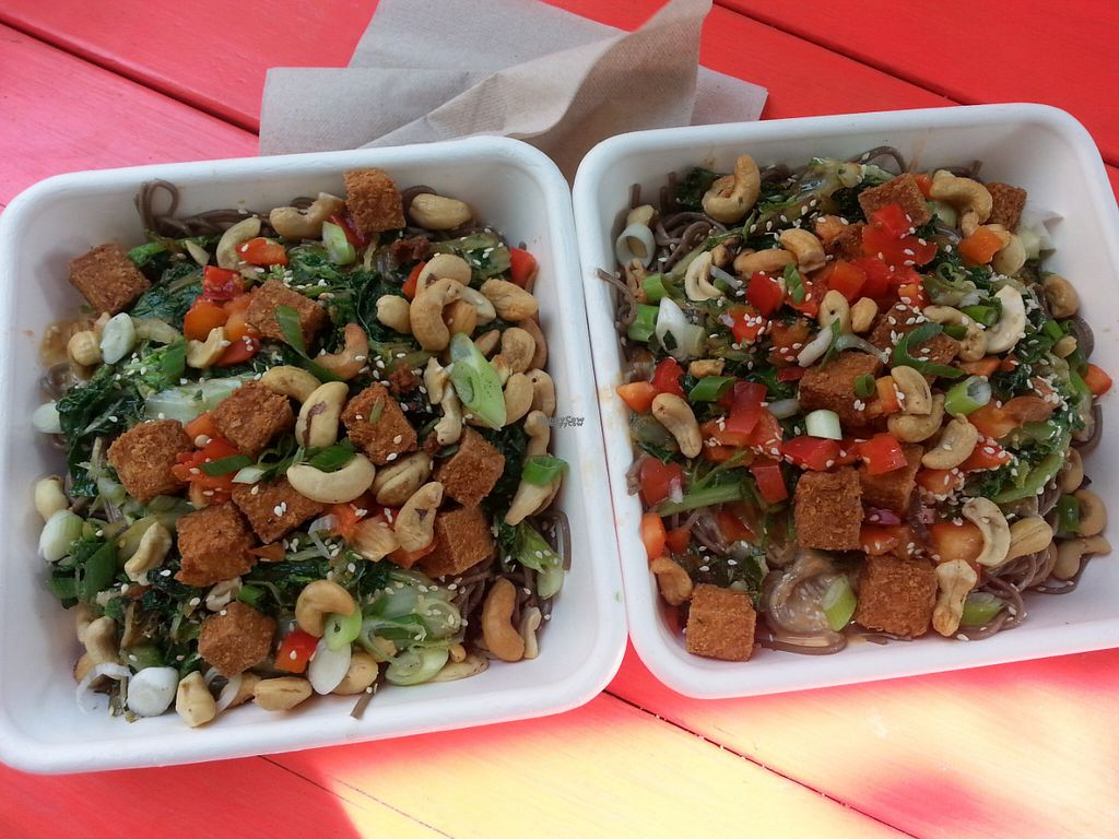 """Photo of Fresh on Eglinton  by <a href=""""/members/profile/Vegan%20GiGi"""">Vegan GiGi</a> <br/>2 tiger bowls on Soba noodles. One of my favorite items on the menu! <br/> October 9, 2016  - <a href='/contact/abuse/image/45740/180818'>Report</a>"""