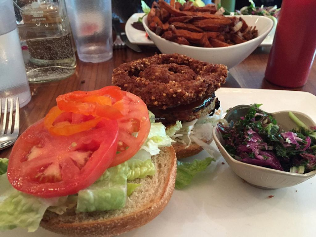 """Photo of Fresh on Eglinton  by <a href=""""/members/profile/Katieconklin"""">Katieconklin</a> <br/>bbq burger  <br/> January 30, 2015  - <a href='/contact/abuse/image/45740/91774'>Report</a>"""