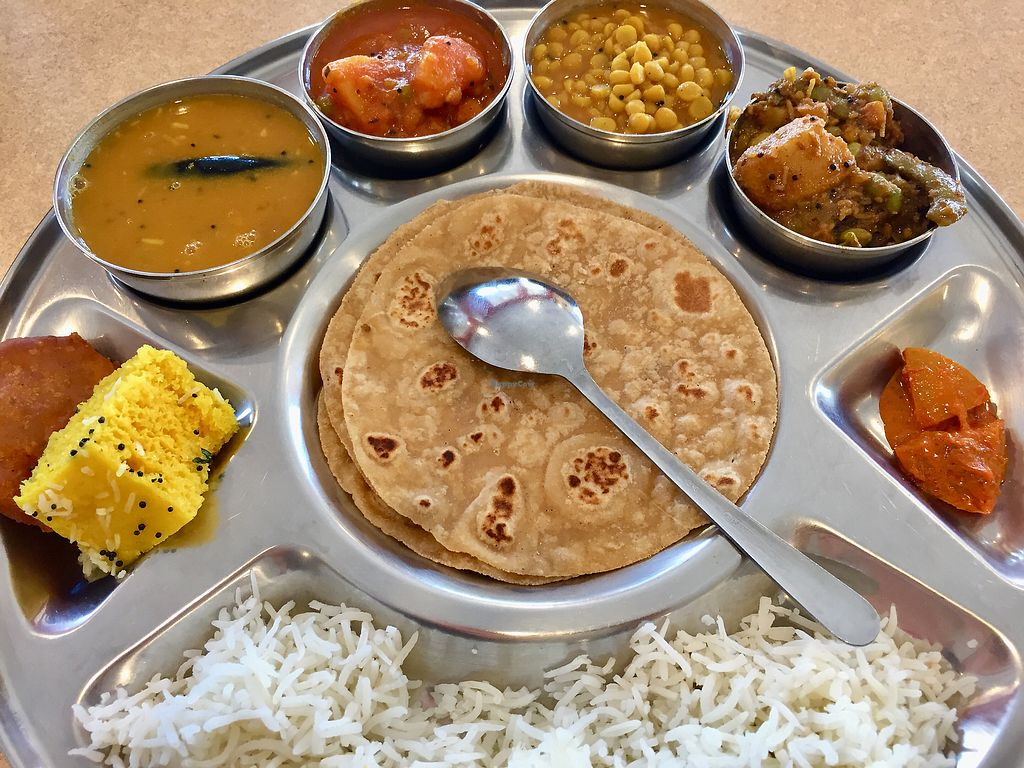 """Photo of Jay Bharat  by <a href=""""/members/profile/SFRobbie"""">SFRobbie</a> <br/>Gujarati Thali: a seriously delicious feast! <br/> March 28, 2018  - <a href='/contact/abuse/image/45772/377501'>Report</a>"""