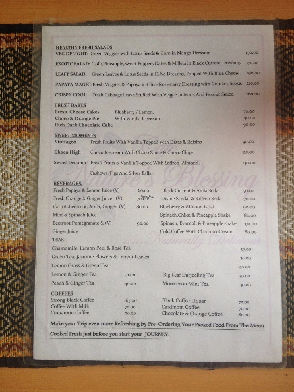 """Photo of Cafe Natures Blessing  by <a href=""""/members/profile/vegan_ryan"""">vegan_ryan</a> <br/>Menu <br/> October 1, 2016  - <a href='/contact/abuse/image/45786/178948'>Report</a>"""