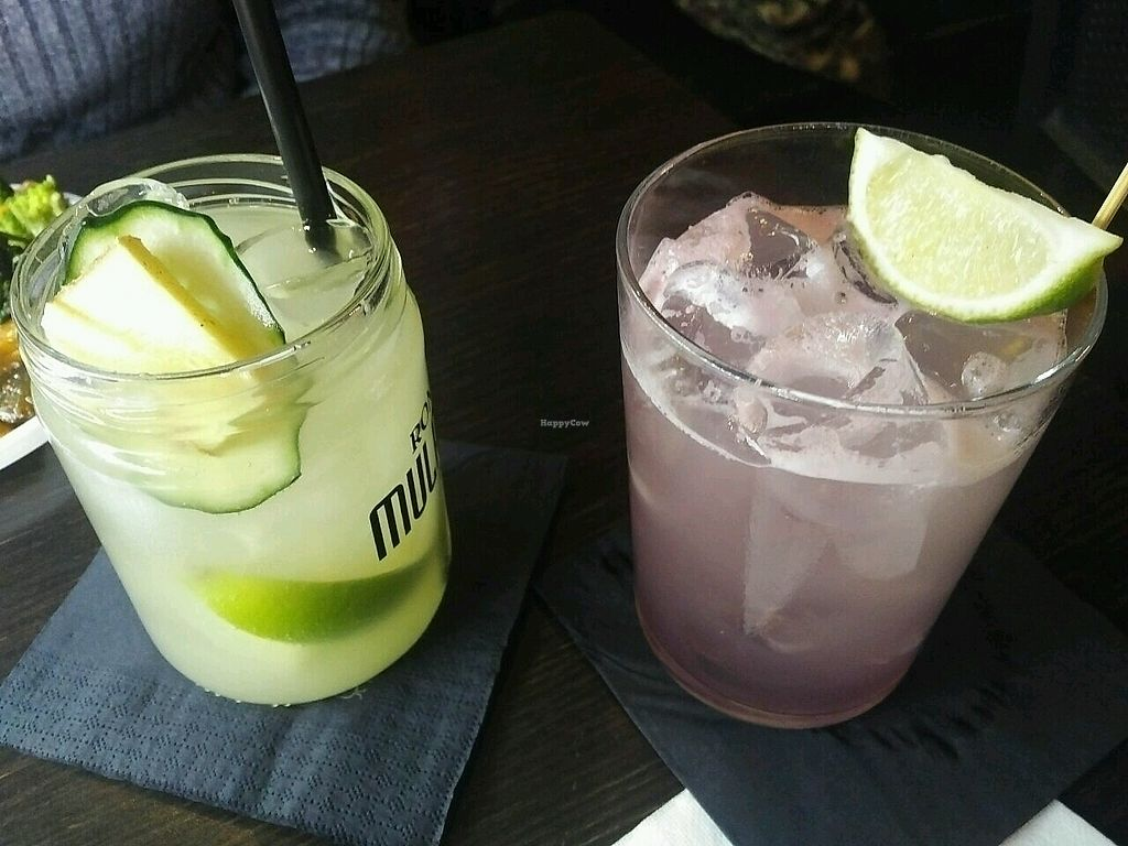 """Photo of Ginger Cocktail Lab  by <a href=""""/members/profile/baldanza"""">baldanza</a> <br/>Moscow mule and Violetta <br/> February 19, 2018  - <a href='/contact/abuse/image/45798/361238'>Report</a>"""