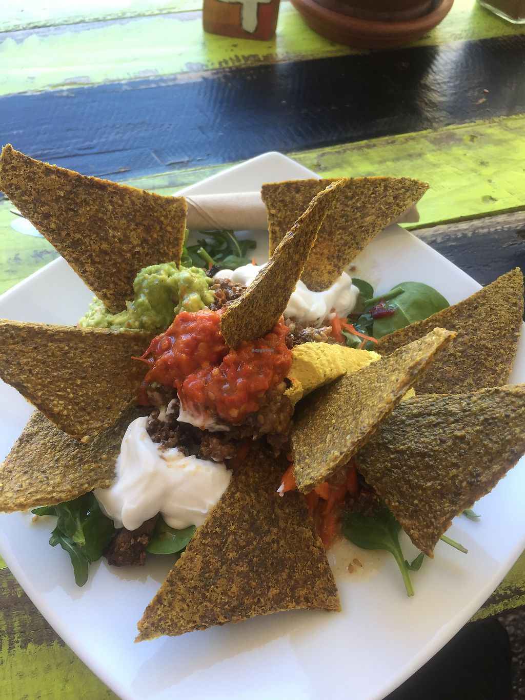 """Photo of New Earth Cafe  by <a href=""""/members/profile/soy_soft"""">soy_soft</a> <br/>Raw Nachos <br/> July 22, 2017  - <a href='/contact/abuse/image/45808/283117'>Report</a>"""
